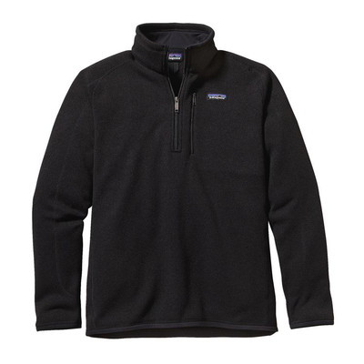 M's Better Sweater 1/4 Zip Black