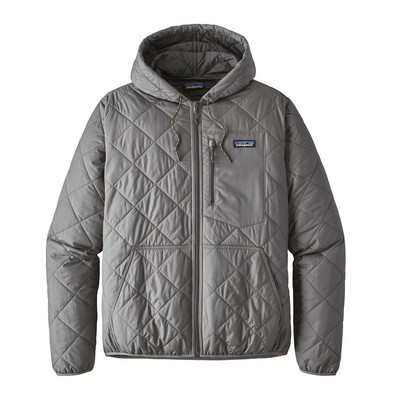 M's Diamond Quilted Bomber Hoody Hex Grey