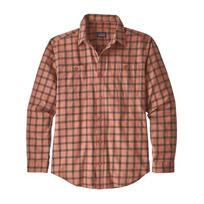 M's L/S Pima Cotton Shirt Lodge Pine: Century Pink