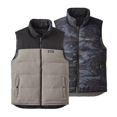 M's Reversible Bivy Down Vest Feather Grey