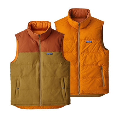 M's Reversible Bivy Down Vest Kastanos Brown