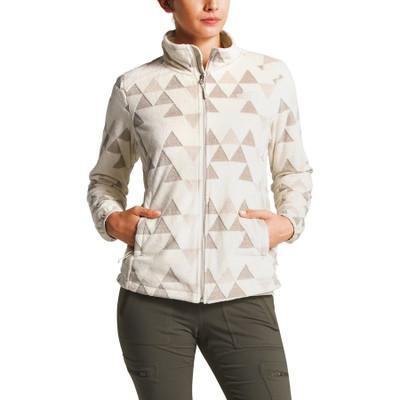 Women's Novelty Osito Jacket Vintage White Triangle Pile Pri
