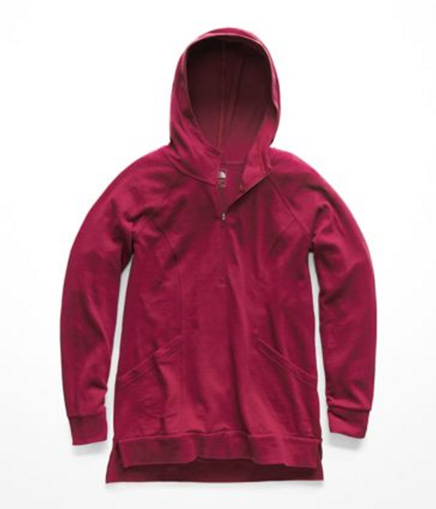 Women's Om ½ Zip Rumba Red