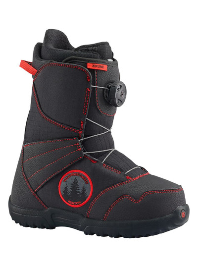 BOYS ZIPLINE BOA BLACK/RED 5K