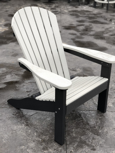 Adirondack Chair Light Gray on Black