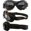 Streetfighter matte brown metal, brown leather and smoke lenses
