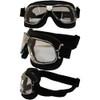 Matte Chrome Black Leather Clear Lenses 6205