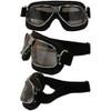 Matte Chrome Black Leather Silver Mirror Lenses 6209