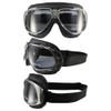 Chrome frame black leather smoke lenses