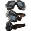 Matte Chrome Brown Leather Smoke Lenses