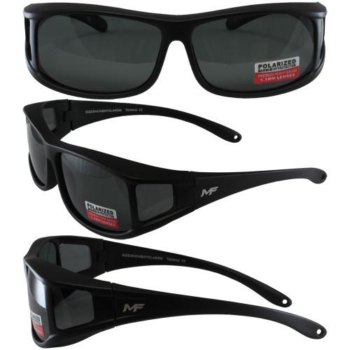 Black Frame Smoke Polarized Lenses