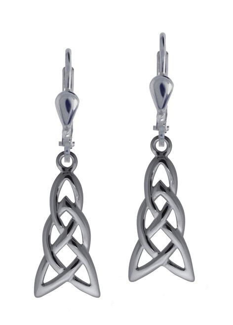 Long Celtic Weave Dangly Earrings