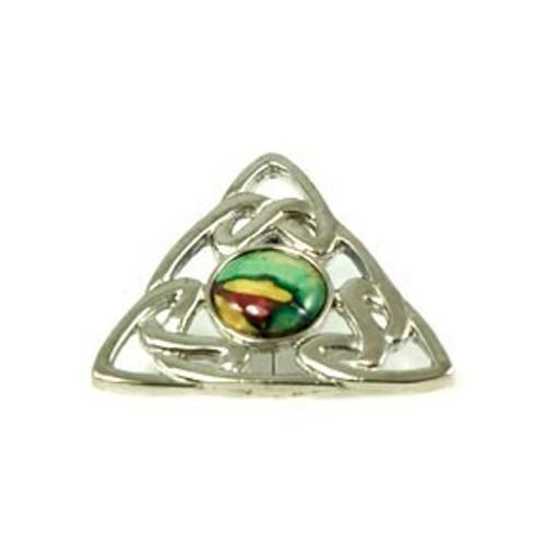Triangular Celtic Knot Brooch
