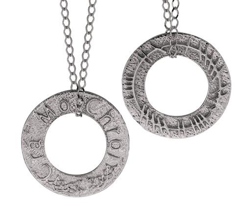 Circle Ogham Necklace Pendant