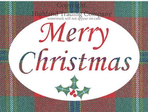 Connemara Tartan Merry Christmas Greeting Card