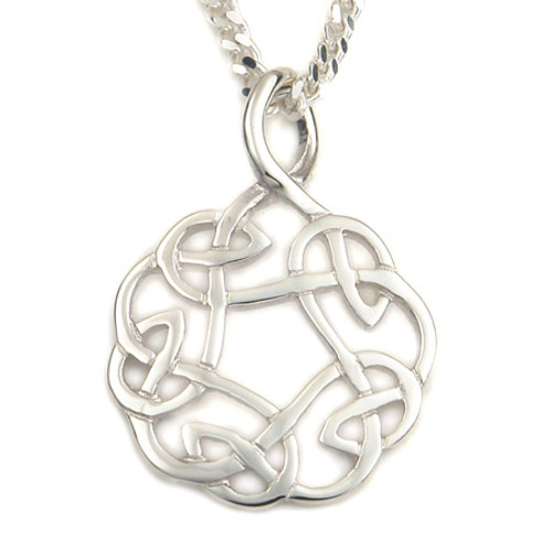 Celtic Knot Interlacing Pendant Necklace
