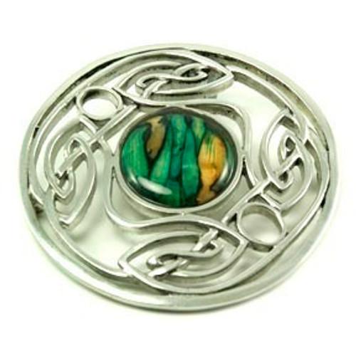 Large Celtic Interlacing Brooch