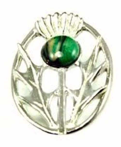 Long Oval Thistle Brooch