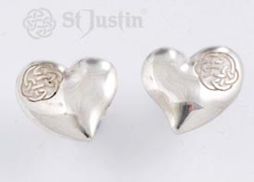 Heart with Lugh's Celtic Knot Earrings