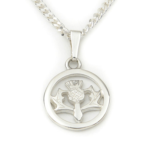 Round Thistle Pendant Necklace