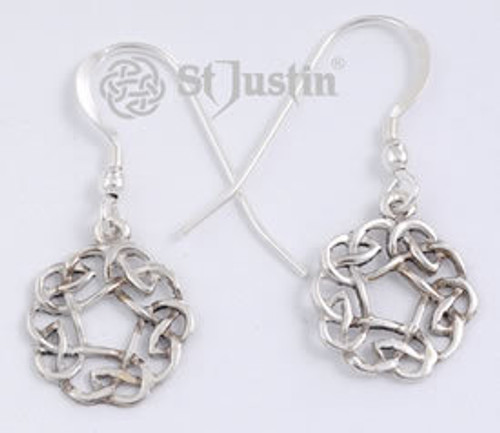 Round Celtic Lace Earrings