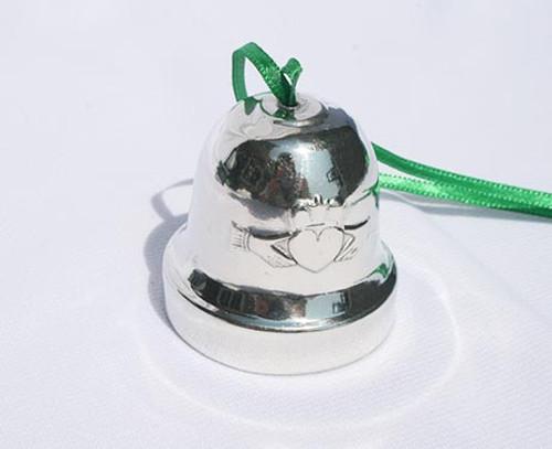 Claddagh Shamrock Christmas Bell Ornament