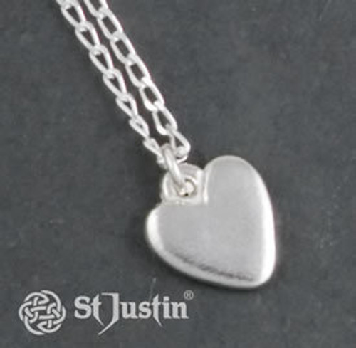 Polished Heart Pendant Necklace