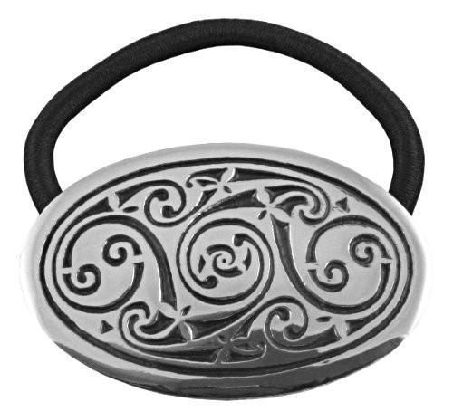 Oval Swirl Celtic Hair Tie
