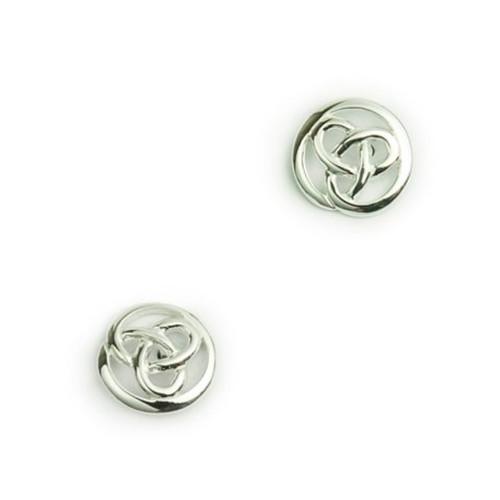 Circular Trinity Knot Post Earrings
