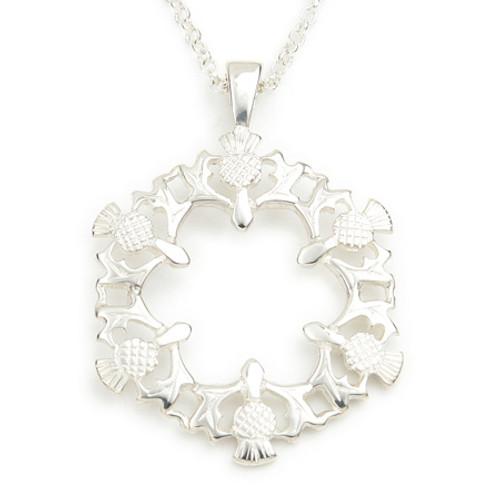 Six Thistle Pendant Necklace