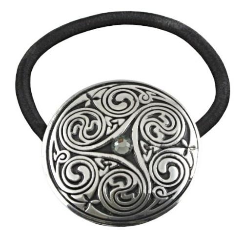 Triple Swirl Celtic Hair Tie