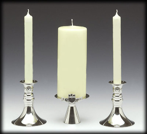 Claddagh Unity Candle Holder 3 Piece Set-SAVE 25%