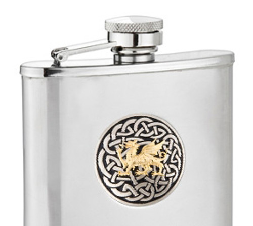 Welsh Dragon Two Tone Flask
