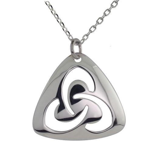 Triangle Trinity Knot Necklace Pendant