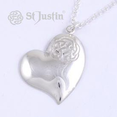 Heart with Lugh's Knot Pendant Necklace