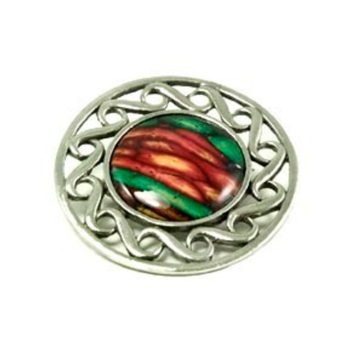 Circular Celtic Swirl Brooch