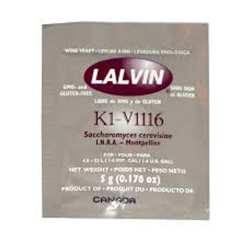 Lalvin K1V-1116 Wine Yeast 5gm