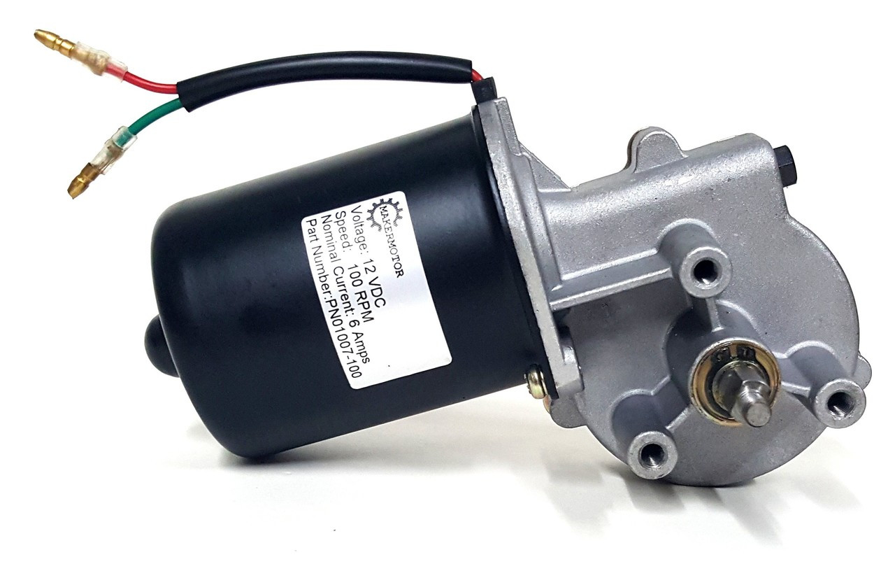 Pn01007 100 10mm 2 flat shaft electric gear motor 12v for Low rpm electric motor for rotisserie