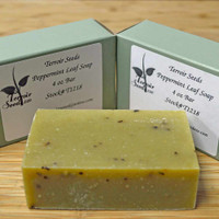 Certified Organic Handmade Peppermint Leaf Soap