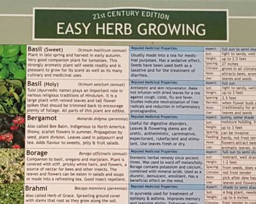 Growing Flowers Planting Chart Terroir Seeds