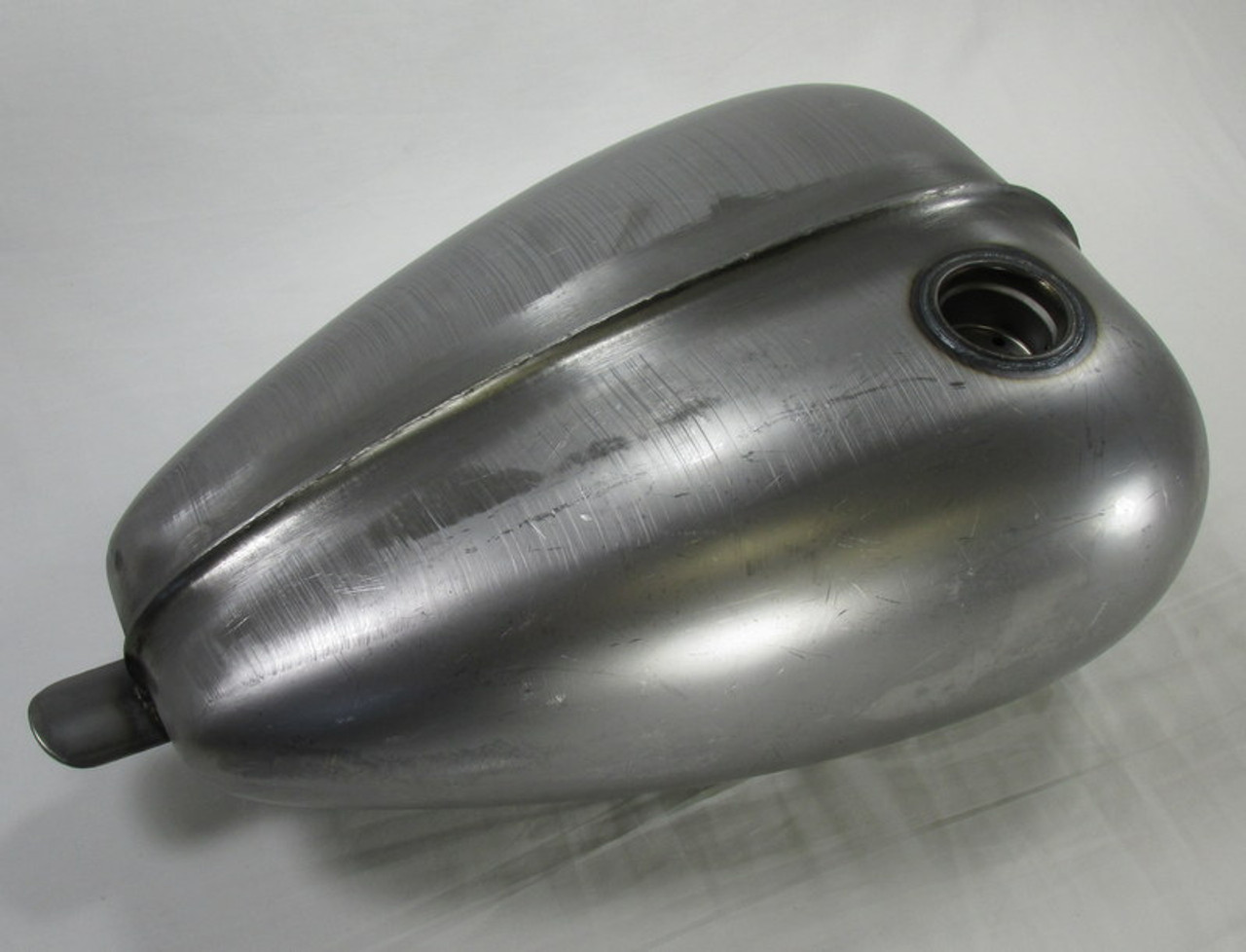 Ribbed Mustang Chopper Bobber Custom Build Gas Tank - Steel - 3.3 ...