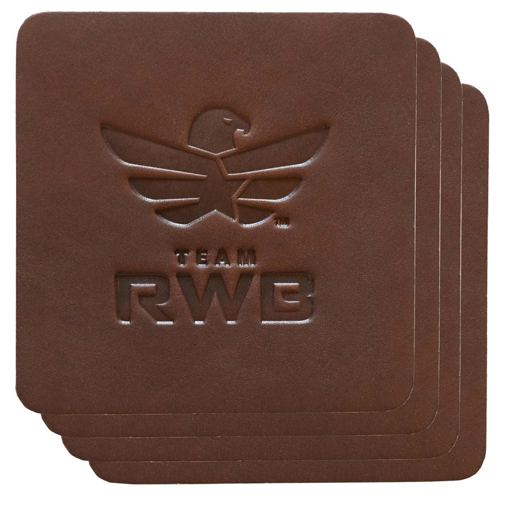 Leather Team RWB Coaster Set (4x)