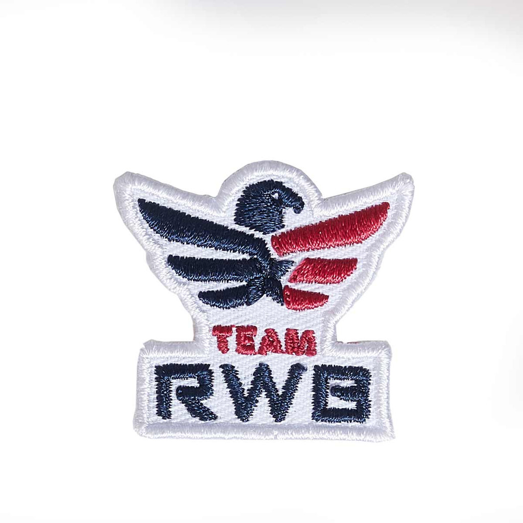 Embroidered Patch Sticker - Team RWB