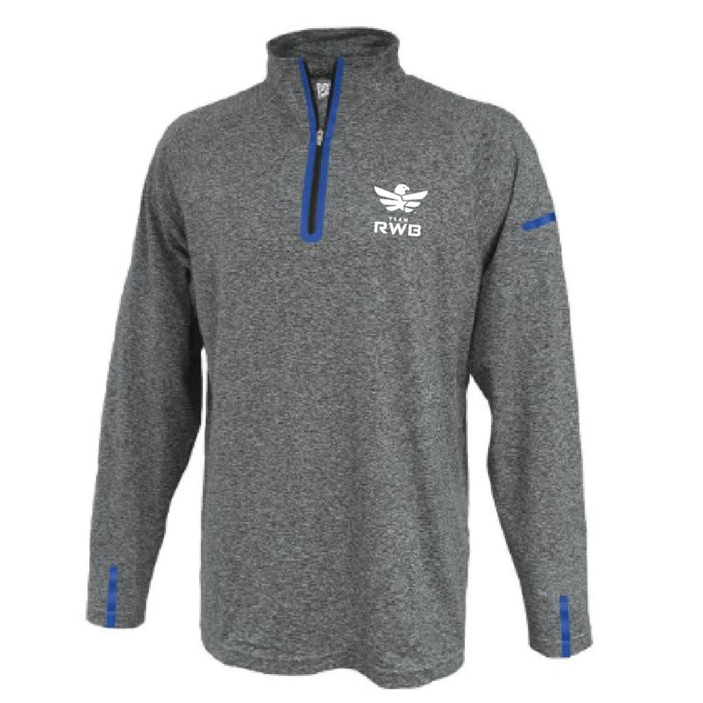 Half Zip Pullover - Team RWB (Grey)