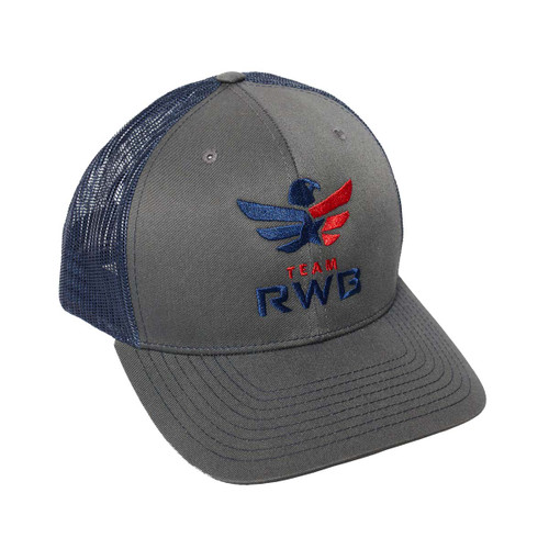 Snapback Hat - Team RWB (Grey/Navy Blue)