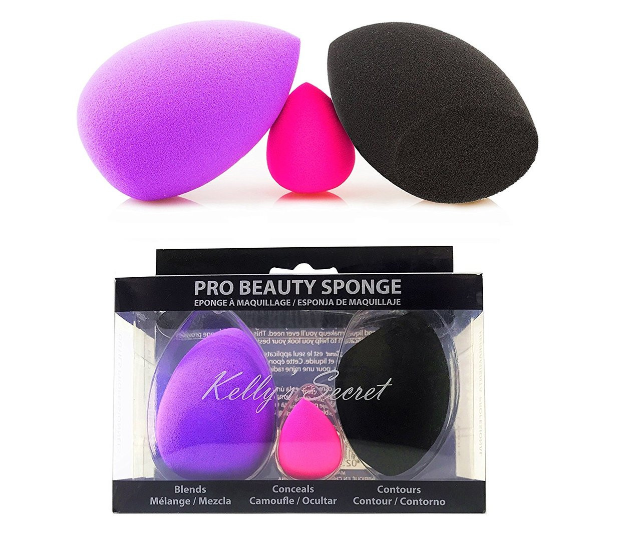 Pro Beauty Makeup Blender Blending Foundation Sponge ...