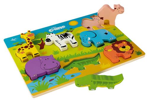 Chunky Wooden Safari Puzzle