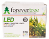ForeverTree 570 LED Multi Color Twinkle Cluster Lights with Black Wire