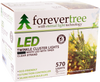 ForeverTree  570 LED Twinkle Cluster White Lights with Clear Wire