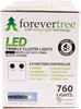 ForeverTree 760 LED Twinkle Cluster White Lights with Black Wire